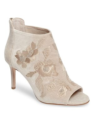IMAGINE BY VINCE CAMUTO Imagine Vince Camuto Padget Embroidered Velvet Peeptoe Bootie