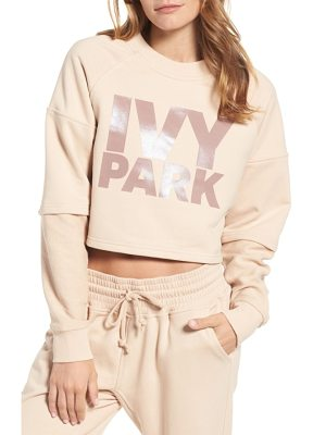 IVY PARK Washed Jersey Cropped Logo Sweatshirt