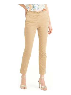 J.Crew ruffle crop chino pants