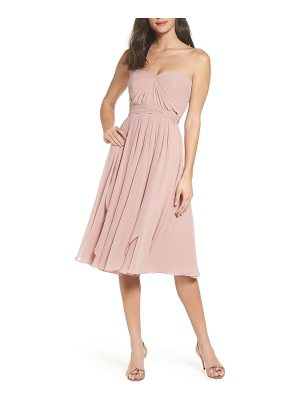 JENNY YOO Emmie Convertible Chiffon Tea-Length Dress