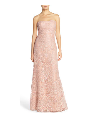 Jenny Yoo sadie sequin lace strapless a-line gown