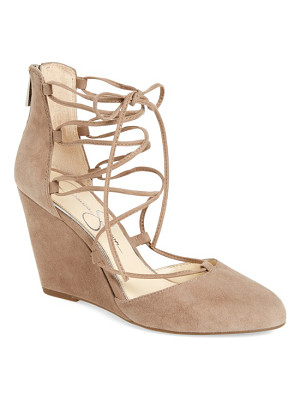 JESSICA SIMPSON Jacee Lace-Up Wedge