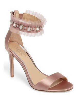 JEWEL BADGLEY MISCHKA Abagail Embellished Ankle Strap Sandal