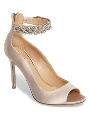 JEWEL BADGLEY MISCHKA Alanis Embellished Ankle Strap Pump