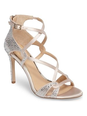 JEWEL BADGLEY MISCHKA aliza ii embellished cage sandal
