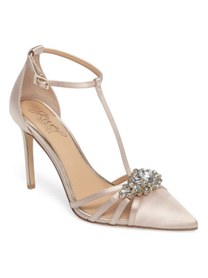 JEWEL BADGLEY MISCHKA Cabo Embellished Pointy Toe Pump