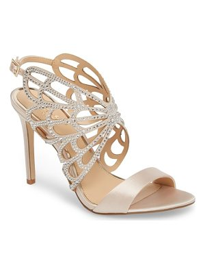 JEWEL BADGLEY MISCHKA Taresa Crystal Embellished Butterfly Sandal