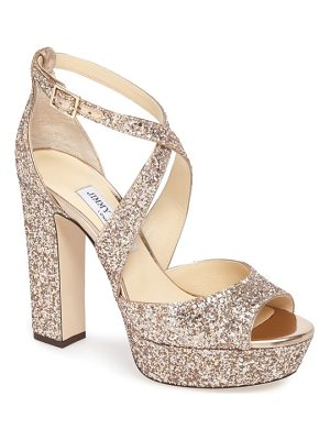 Jimmy Choo april glitter platform sandal