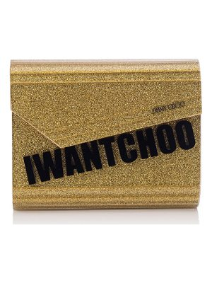 Jimmy Choo candy i want choo glitter clutch