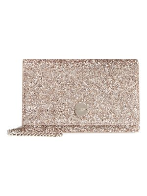 Jimmy Choo florence glitter crossbody bag