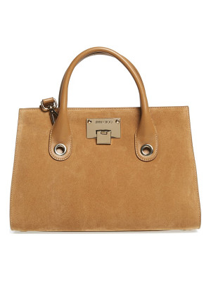 JIMMY CHOO Medium Riley Suede Tote