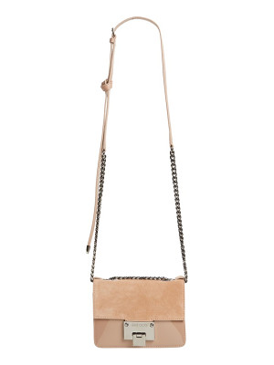 Jimmy Choo mini rebel suede crossbody bag