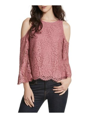 JOIE Abay Cold Shoulder Lace Top