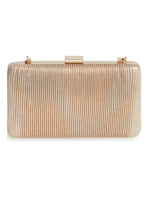 LA REGALE Pleated Box Clutch