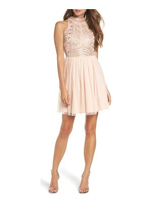 LACE & BEADS Wren Beaded Skater Dress