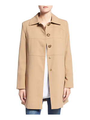 Larry Levine club collar walker coat