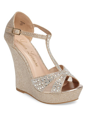 Lauren Lorraine ness crystal embellished wedge sandal