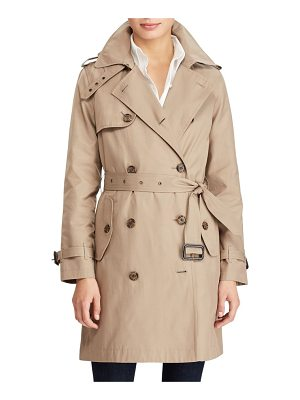 Lauren Ralph Lauren cotton blend a-line trench coat