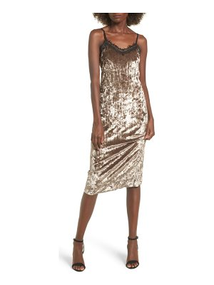 Lira Clothing eclipse lace & velvet slipdress