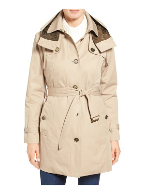 London Fog petite   single breasted trench coat