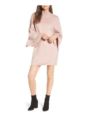 LOST INK Flare Sleeve Sweater Dress
