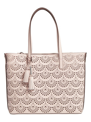 LOUISE ET CIE Elay Perforated Leather Tote