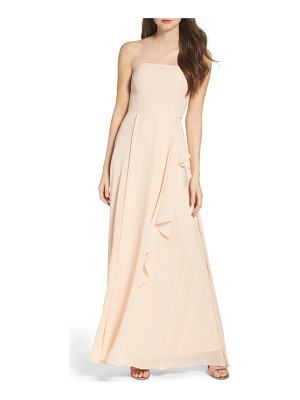 LULUS Chiffon Strapless Maxi Dress