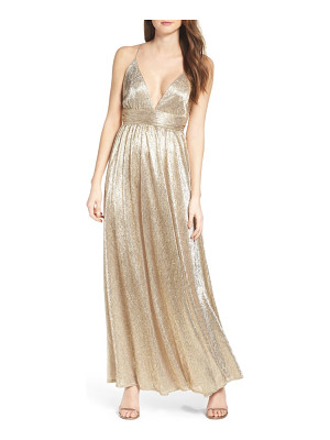 Lulus metallic maxi dress
