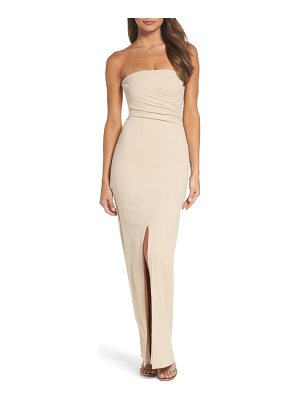 LULUS Own The Night Strapless Maxi Dress