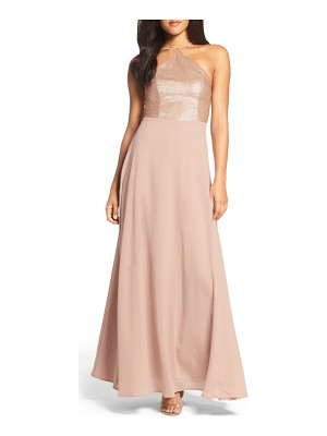 Lulus sequin chiffon gown