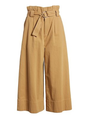 Lush paperbag waist crop pants
