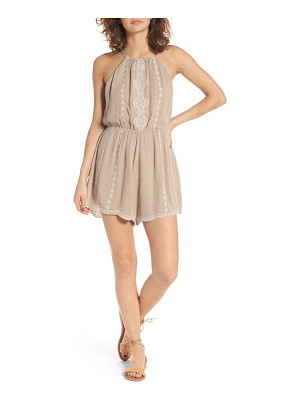 Lush embroiderd high neck romper