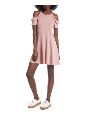 LUSH Ruffle Cold Shoulder Dress