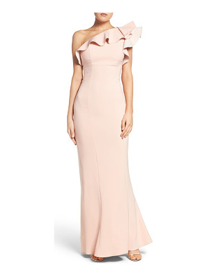 Maria Bianca Nero colorblock one-shoulder gown