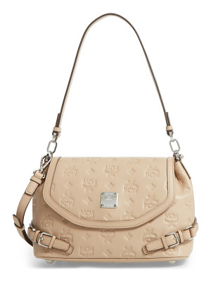 MCM Signature Monogram Embossed Leather Shoulder/Crossbody Bag