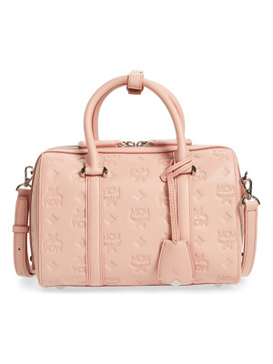 MCM Small Boston Monogram Leather Satchel