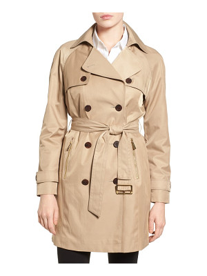 MICHAEL Michael Kors belted double breasted trench coat
