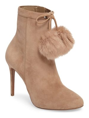 MICHAEL Michael Kors remi bootie with genuine rabbit fur pom