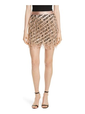 MILLY Fil Coupe Diagonal Stripe Miniskirt
