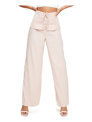 MISSGUIDED Corset Waist Crepe Pants