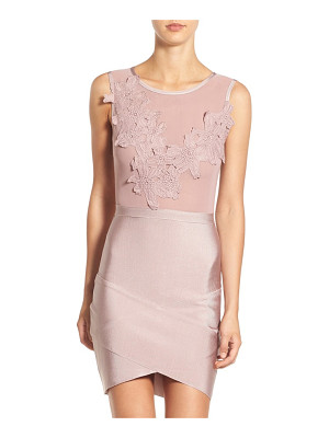 MISSGUIDED floral applique body-con dress