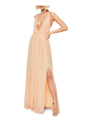 MISSGUIDED Plunging Neck Maxi Dress