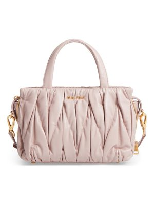 MIU MIU Small Matelasse Nappa Leather Satchel