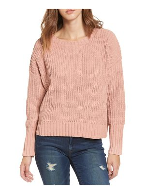 MOON RIVER Drop Shoulder Chunky Knit Sweater