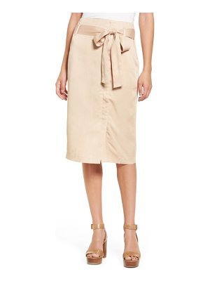 MOON RIVER Tie Waist Pencil Skirt