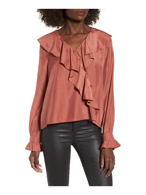 MOON RIVER Unbalanced Ruffle Top