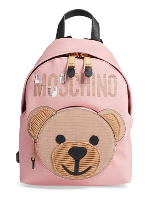 MOSCHINO Cardboard Bear Leather Backpack