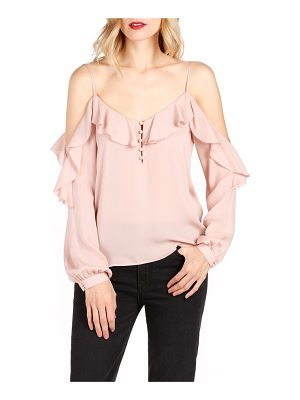 PAIGE Arabeth Cold Shoulder Silk Blouse