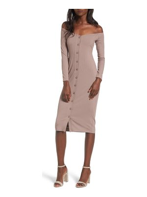 PRIVACY PLEASE Albany Off The Shoulder Midi Dress