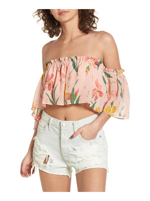 Privacy Please parsons off the shoulder crop top